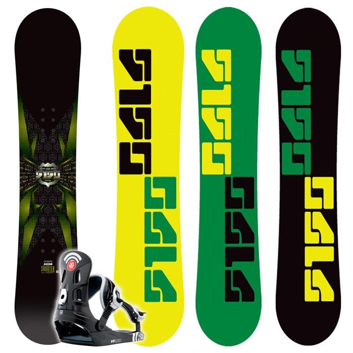 5150 Shooter Snowboard + FF1500 Bindings - Youth 2009