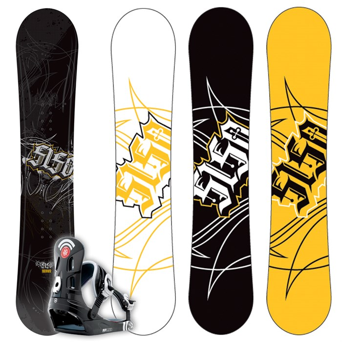 5150 Nomad Snowboard + FF1500 (Black) Bindings L 2009