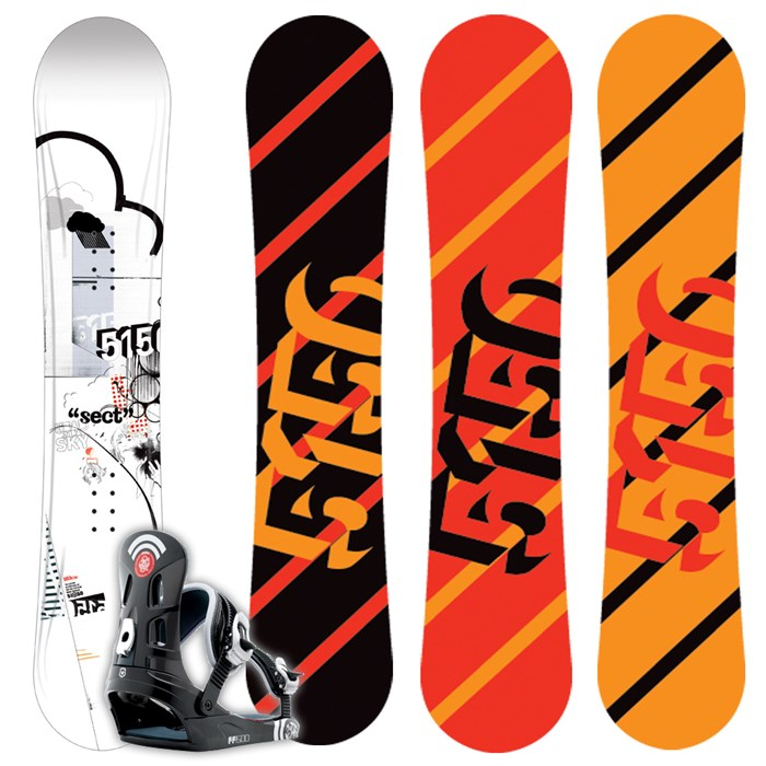 5150 Sect Snowboard + FF1500 (Black) Bindings L 2009