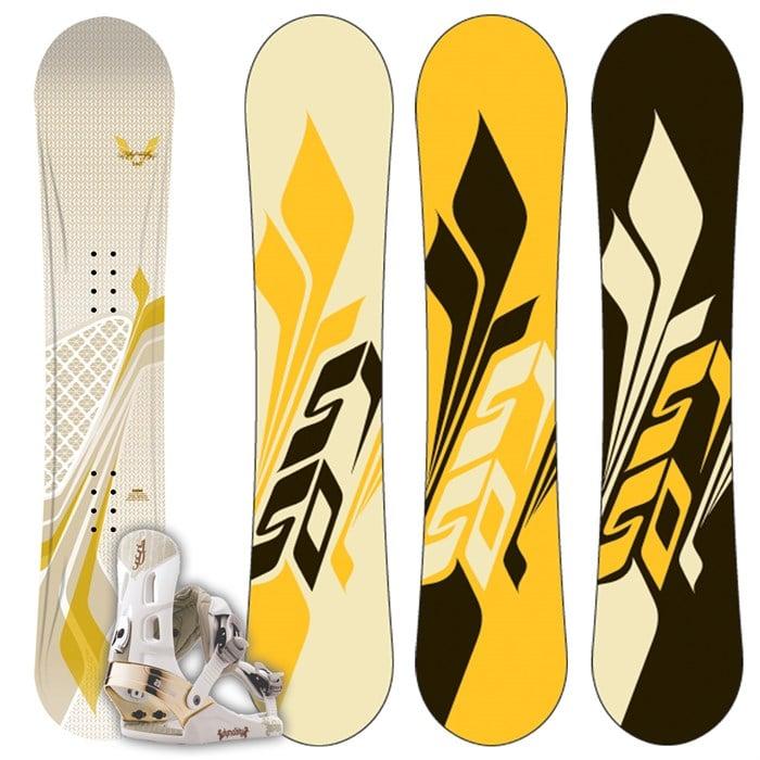 5150 Velour Snowboard + Dynasty Bindings - Women's 2009