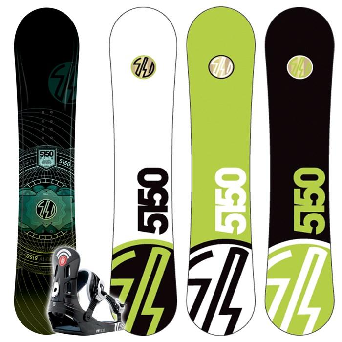 5150 Path Snowboard (Wide) + FF1500 Bindings L 2009