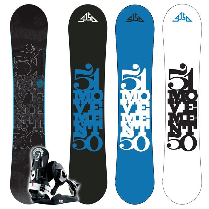 5150 Movement Snowboard + FF2000 (Black) Bindings 2009