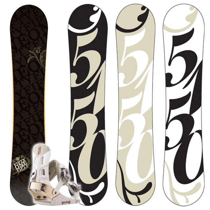 5150 Dynasty Snowboard + Dynasty Bindings - Women's 2009