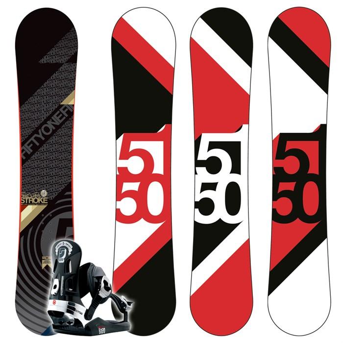 5150 Stroke Snowboard (Wide) + FF2000 Bindings 2009