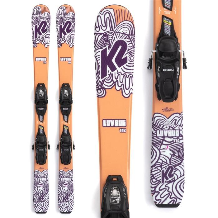 K2 - Luv Bug Skis + FDT 4.5 Bindings - Little Girls' 2022