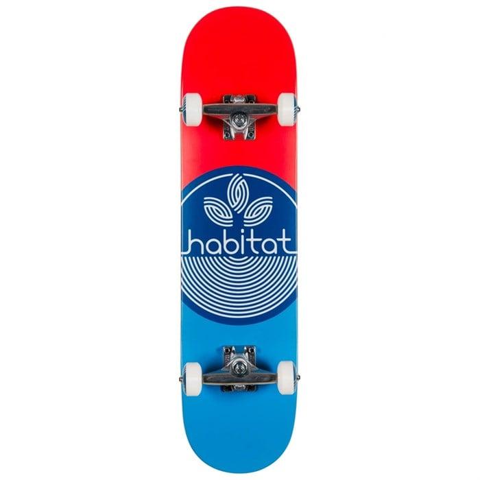 Habitat - Leaf Dot Blue Complete 7.75 Skateboard Complete