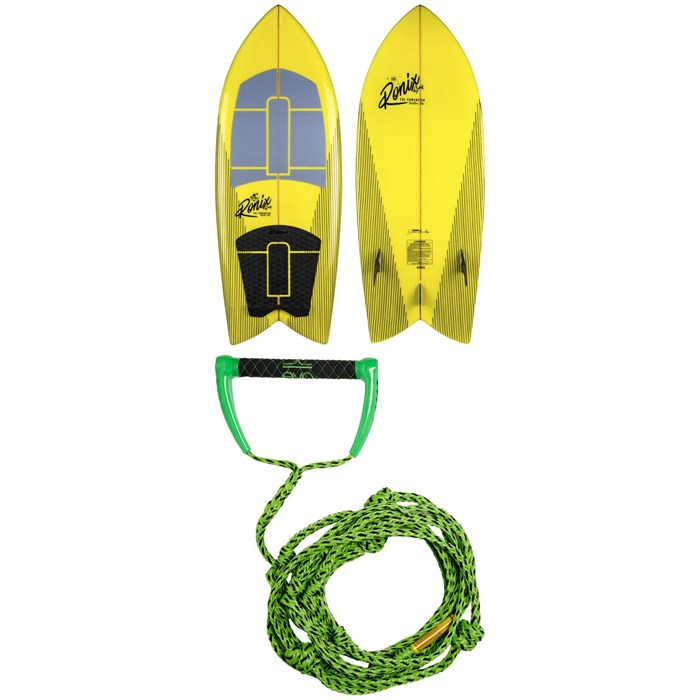 Ronix - Koal Technora Powerfish+ Wakesurf Board 2020 + Proline x evo LGS 25 ft Surf Rope