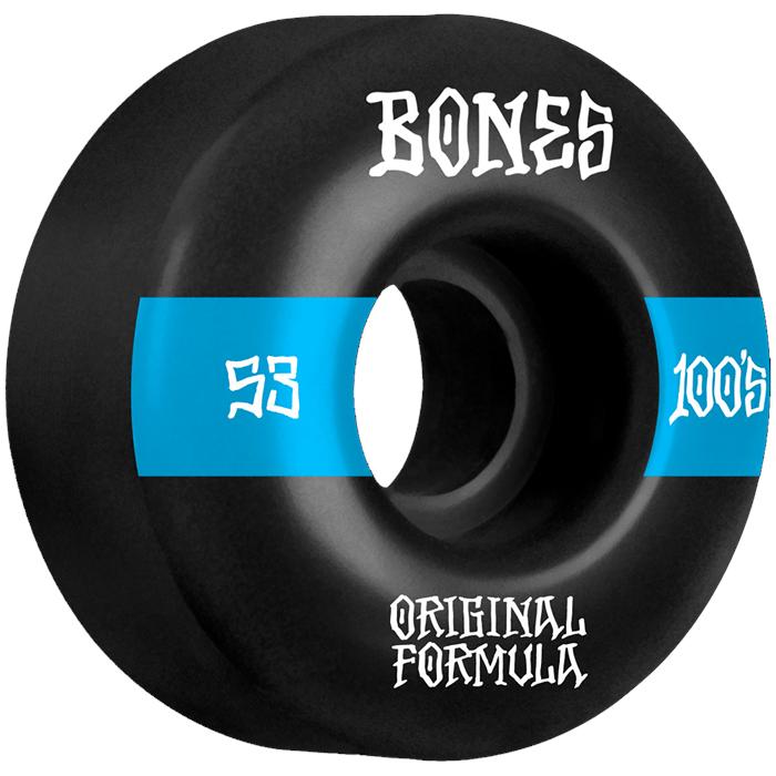 Bones - 100s #14 Wide OG Formula V4 Skateboard Wheels