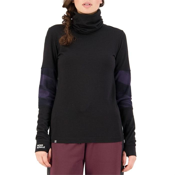 MONS ROYALE - Cornice Rollover Long Sleeve Top - Women's