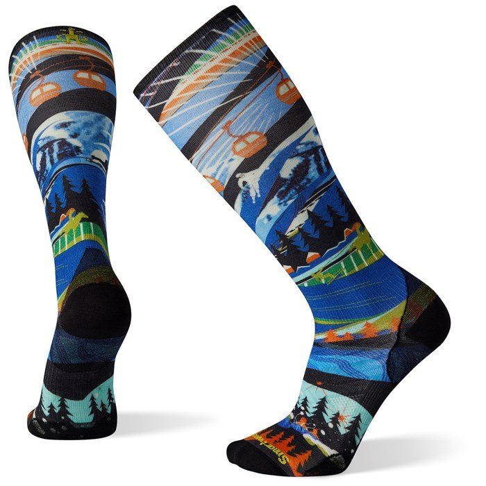 Smartwool - Performance Ski Zero Cushion Skication Print OTC Socks