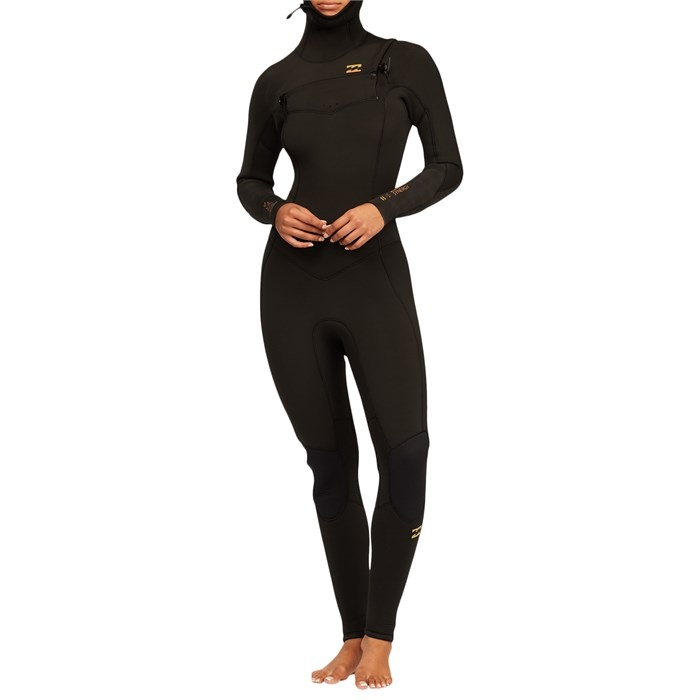 Billabong - 5/4 Synergy Chest Zip Hooded Wetsuit - Women's