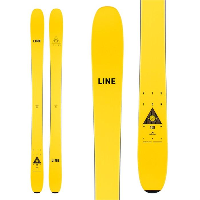 Line Skis - Vision 108 Skis + Salomon Shift MNC13 Bindings + Black Diamond Ascension STS Skins 2021 - Used