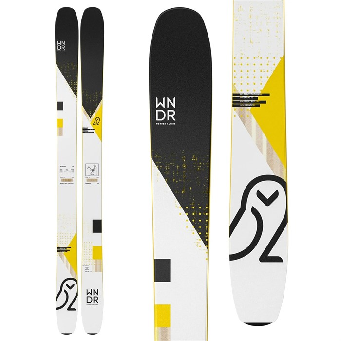 WNDR Alpine - Intention 110 Camber Skis + Marker Kingpin 13 Demo Bindings + Black Diamond Glidelite Skins 2021 - Used