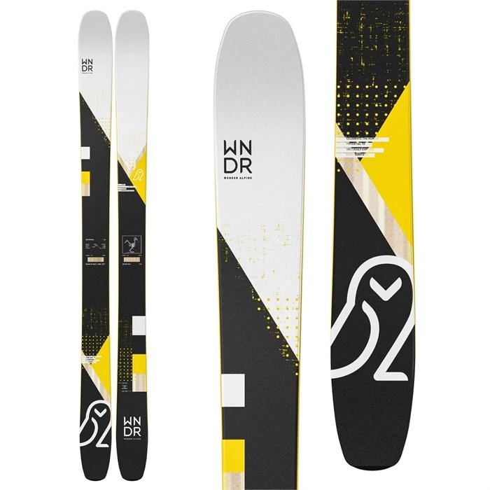 WNDR Alpine - Intention 110 Reverse Skis + Marker Kingpin 13 Demo Bindings + Black Diamond Glidelite Skins 2021 - Used