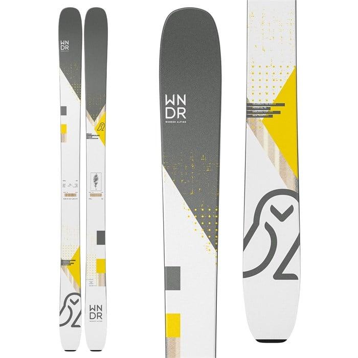 WNDR Alpine - Vital 100 Camber Skis + Marker Kingpin 10 Demo Bindings + Black Diamond Glidelite Skins 2021 - Used