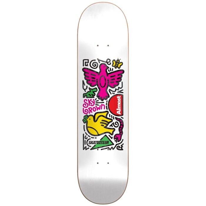 Almost - Skateistan Sky Doodle R7 White 8.0 Skateboard Deck