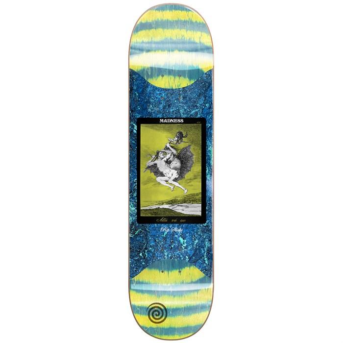 Madness - Alla Slick Yellow/Green 8.5 Skateboard Deck