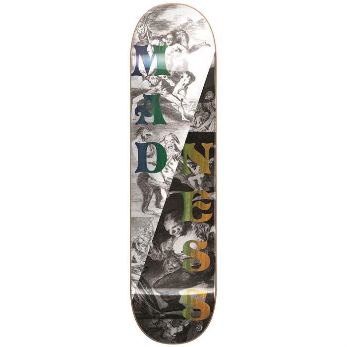 Madness - Split Overlap R7 Black/White 8.0 Skateboard Deck