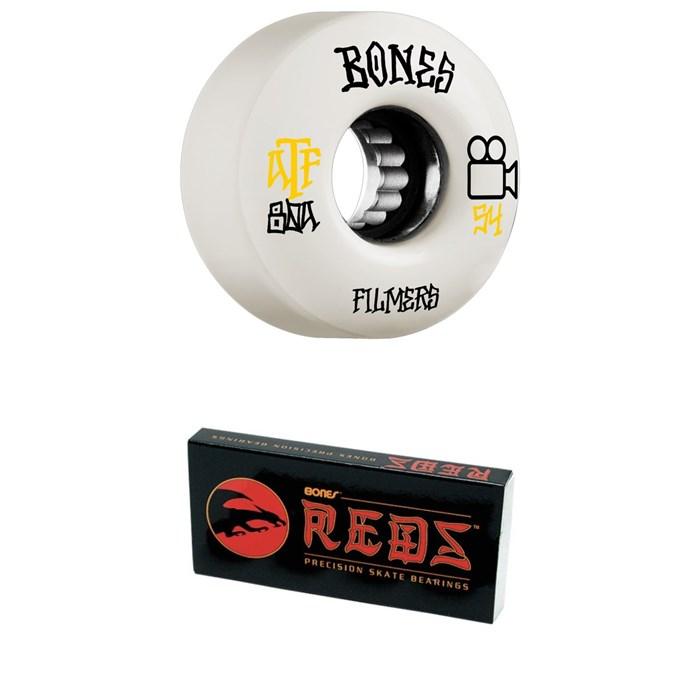Bones - ATF Filmers 80a Skateboard Wheels + Bones Reds Skateboard Bearings