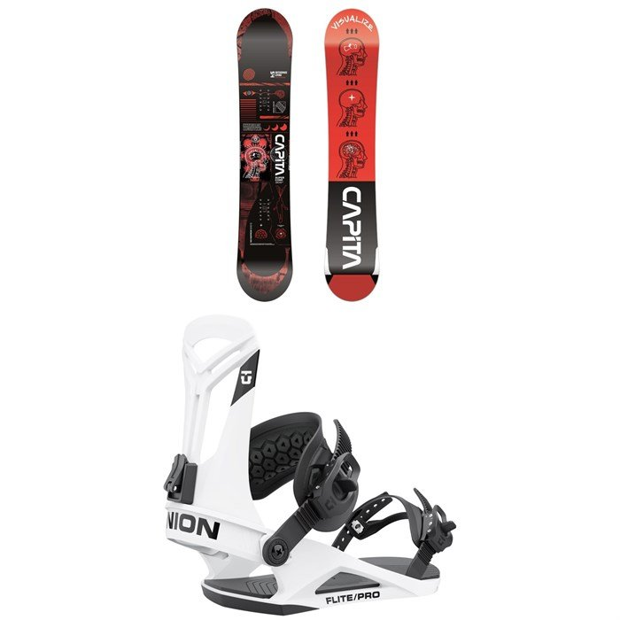 CAPiTA - Outerspace Living Snowboard + Union Flite Pro Snowboard Bindings 2022