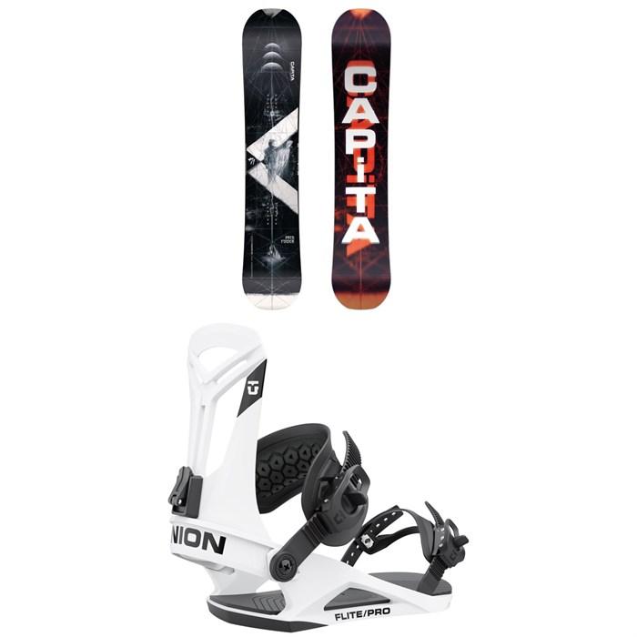 CAPiTA - Pathfinder Reverse Snowboard + Union Flite Pro Snowboard Bindings 2022