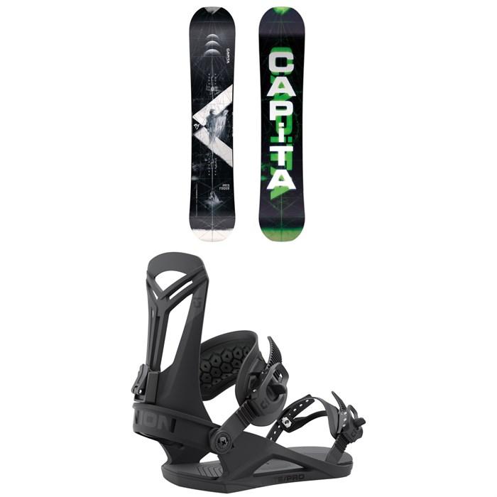 CAPiTA - Pathfinder Camber Snowboard + Union Flite Pro Snowboard Bindings 2022