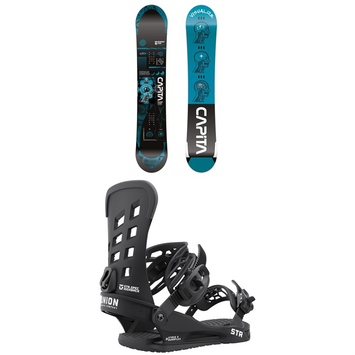 CAPiTA - Outerspace Living Snowboard + Union STR Snowboard Bindings 2022