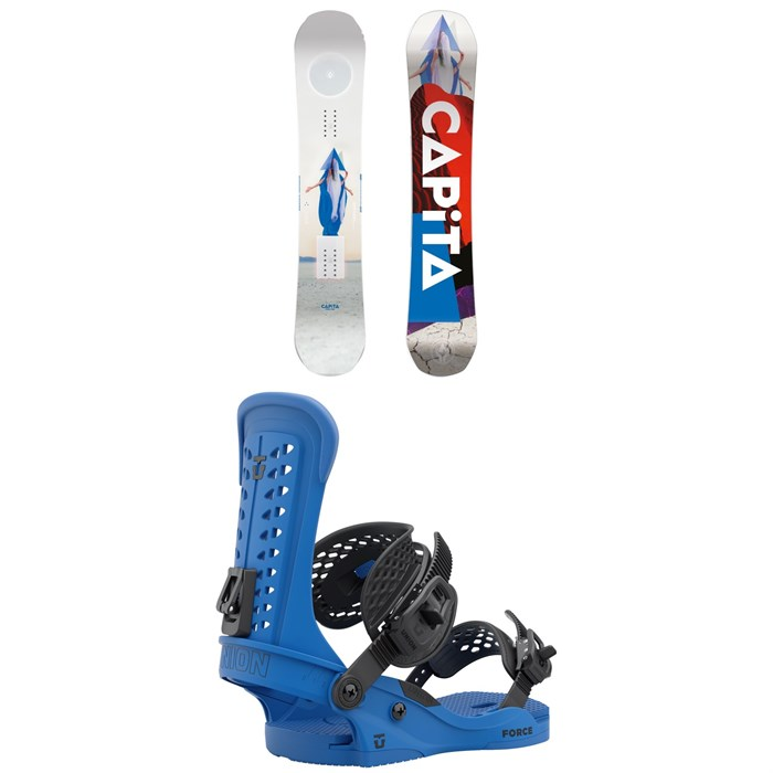 CAPiTA - Defenders of Awesome Snowboard + Union Force Snowboard Bindings 2022