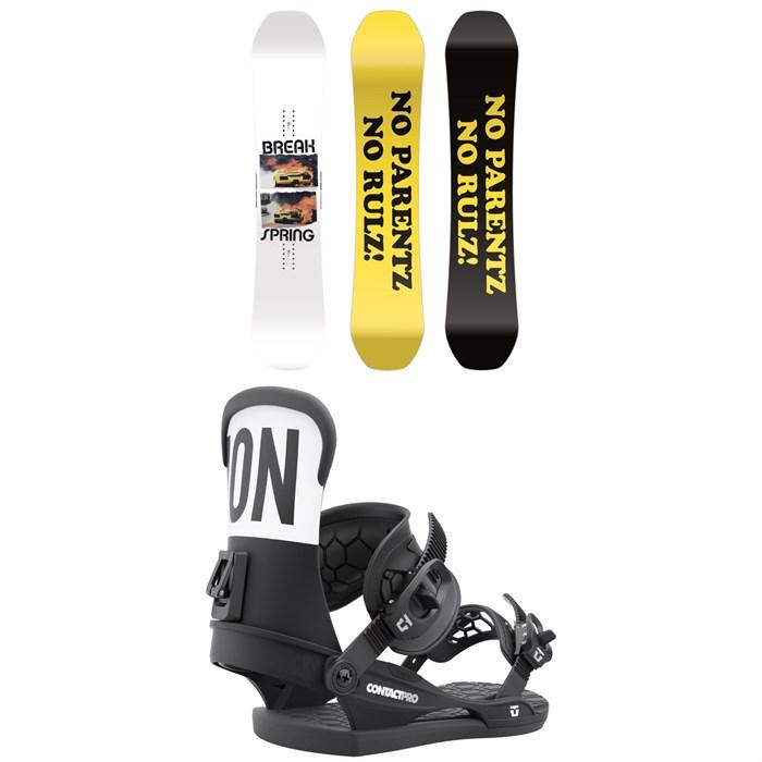 CAPiTA - Spring Break Powder Twin Snowboard + Union Contact Pro Snowboard Bindings 2022