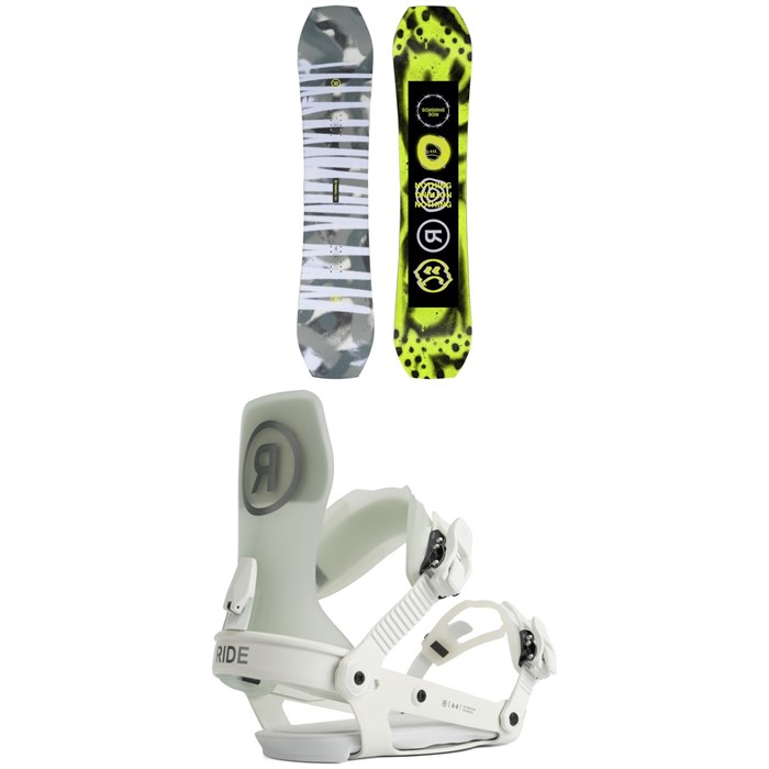 Ride - Twinpig Snowboard + A-6 Snowboard Bindings 2022
