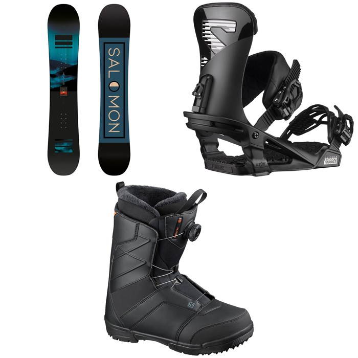 Salomon - Pulse Snowboard + Trigger Snowboard Bindings + Faction Boa Snowboard Boots 2021
