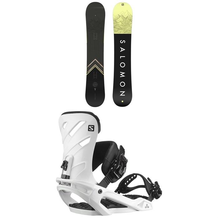 Salomon - Sight Snowboard + Rhythm Snowboard Bindings 2022