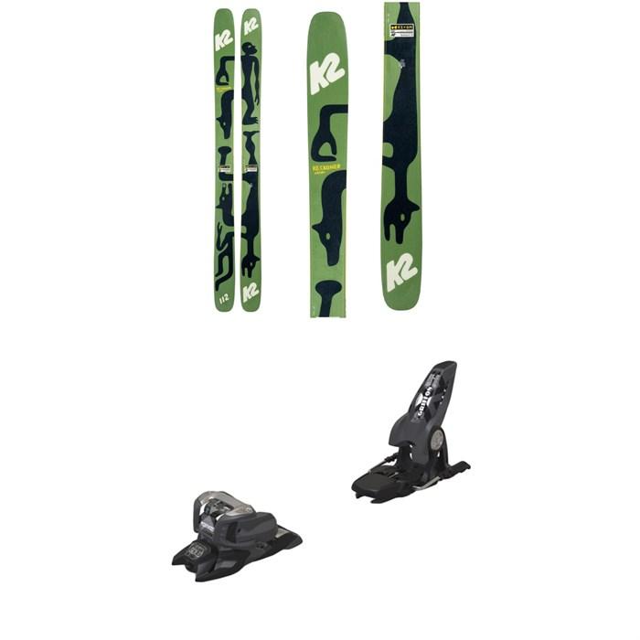 K2 - x Geoff McFetridge Reckoner 112 Skis 2021 + Marker Griffon 13 ID Ski Bindings