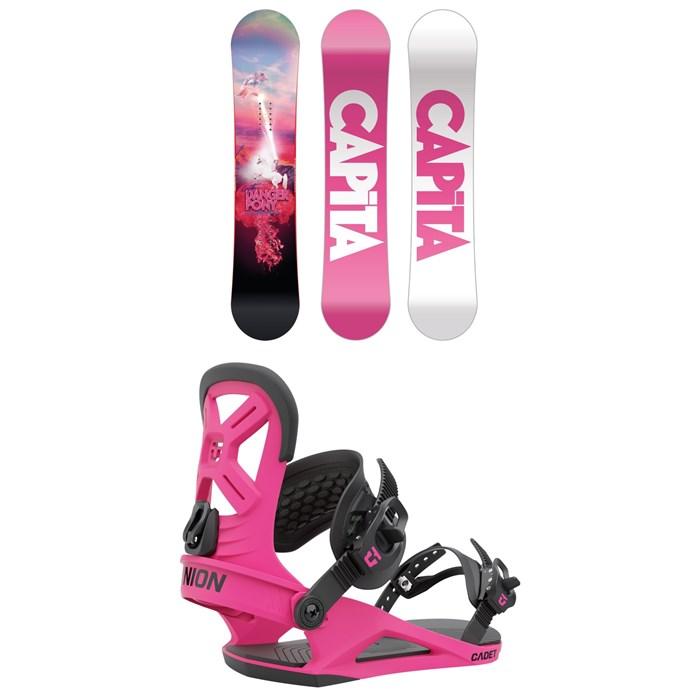CAPiTA - Jess Kimura Mini Snowboard + Union Cadet Snowboard Bindings - Kids' 2022
