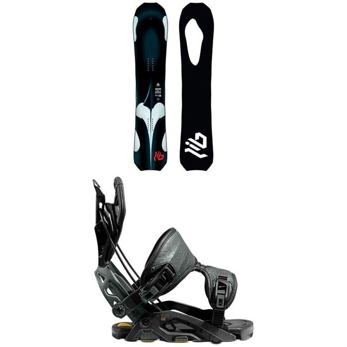Lib Tech - T.Rice Orca Snowboard + Flow Fuse-GT Fusion Snowboard Bindings 2021