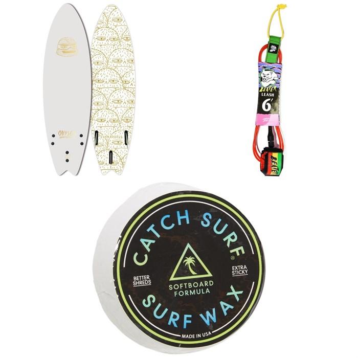 "Catch Surf - Odysea 6'6"" Skipper x Evan Rossell Surfboard + Catch Surf Beater 6' Leash + Catch Surf Surf Wax"