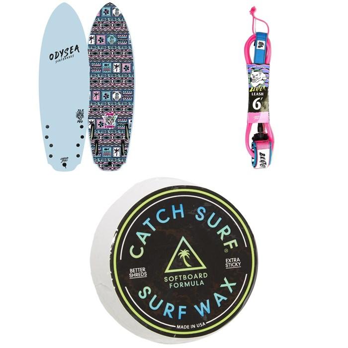 """Catch Surf - Odysea 5'8"""" Quad-Fin x Jamie O'Brien Pro Surfboard + Catch Surf Beater 6' Leash + Catch Surf Surf Wax"""