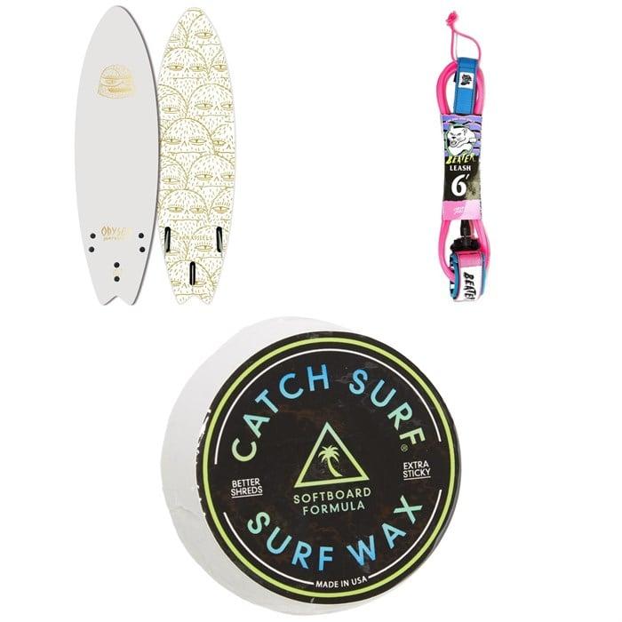 "Catch Surf - Odysea 5'6"" Skipper Tri Fin x Evan Rossell Surfboard + Catch Surf Beater 6' Leash + Catch Surf Surf Wax"