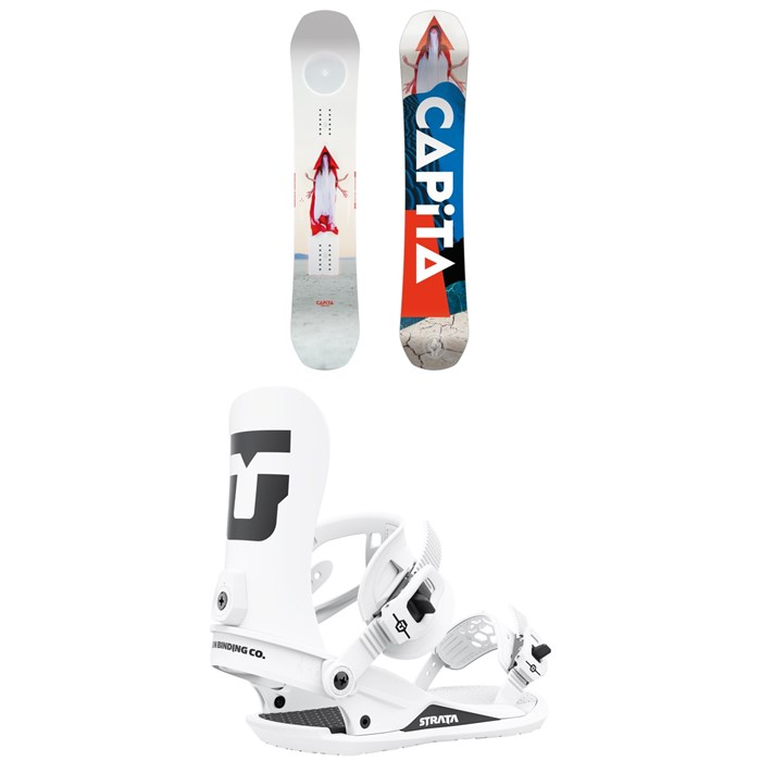 CAPiTA - Defenders of Awesome Snowboard + Union Strata Snowboard Bindings 2022