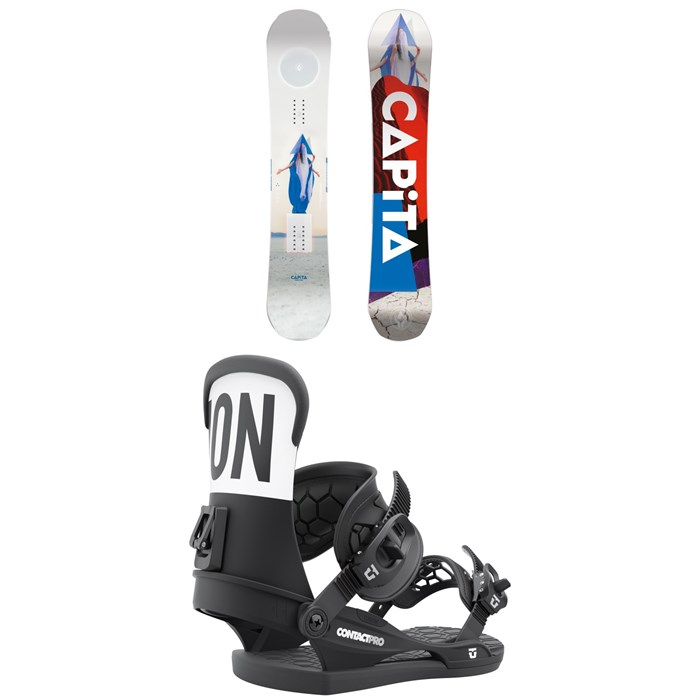 CAPiTA - Defenders of Awesome Snowboard + Union Contact Pro Snowboard Bindings 2022