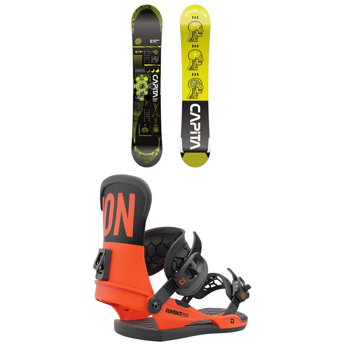 CAPiTA - Outerspace Living Snowboard + Union Contact Pro Snowboard Bindings 2022