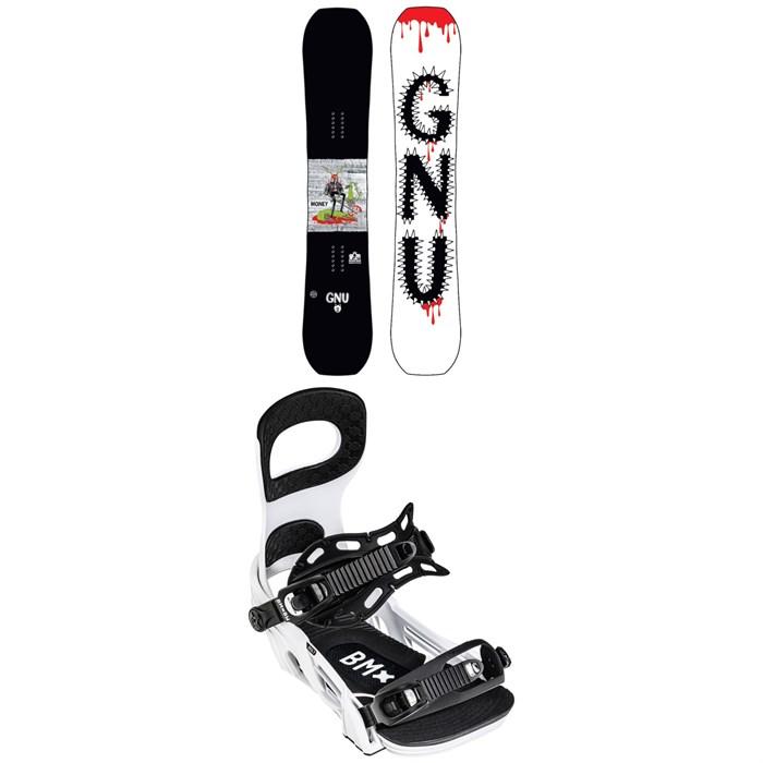 GNU - Money C2E Snowboard + Bent Metal Bolt Snowboard Bindings 2022