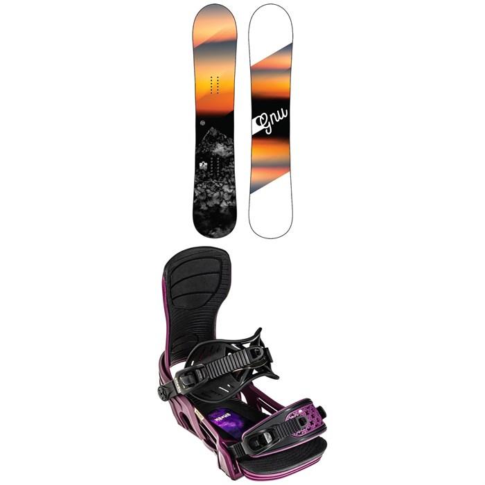 GNU - Ravish C2 Snowboard + Bent Metal Stylist Snowboard Bindings - Women's 2022