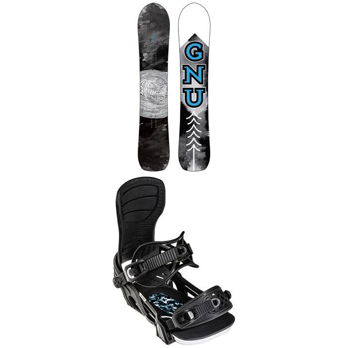 GNU - Antigravity C3 Snowboard + Bent Metal Axtion Snowboard Bindings 2022