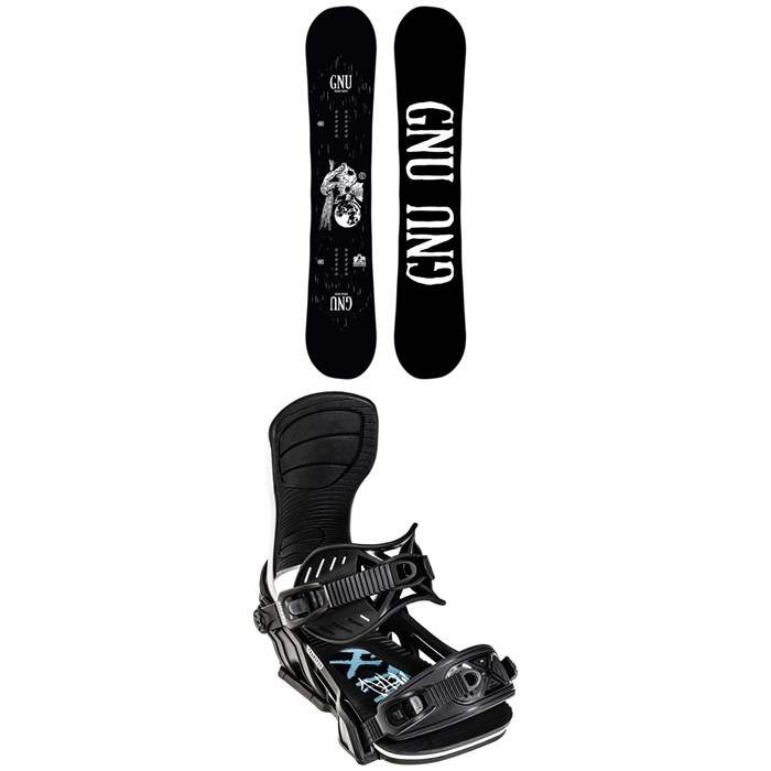 GNU - Riders Choice Asym C2X Snowboard 2022 + Bent Metal Transfer Snowboard Bindings 2022
