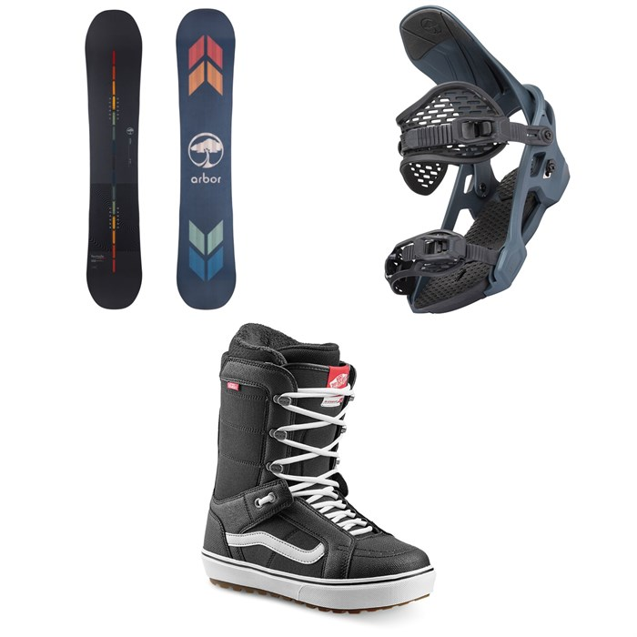 Arbor - Formula Camber Snowboard + Spruce Snowboard Bindings + Vans Hi Standard OG Snowboard Boots 2022