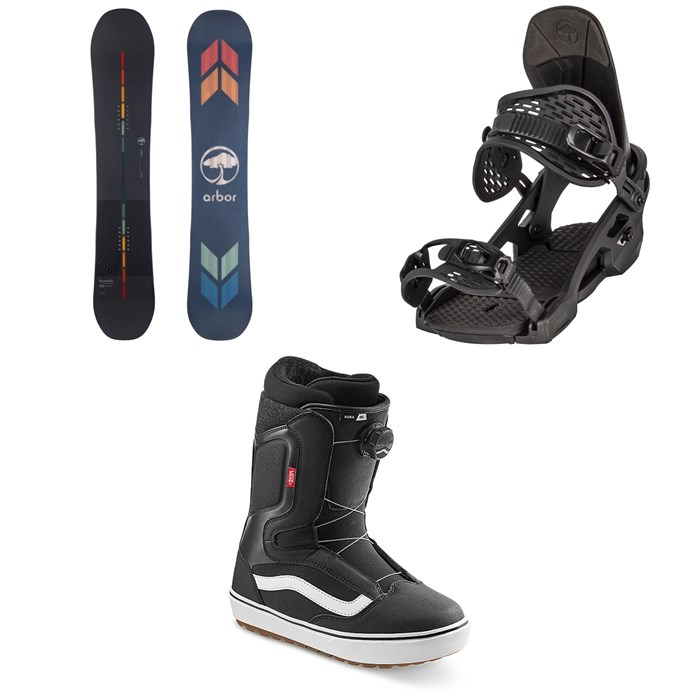 Arbor - Formula Rocker Snowboard + Spruce Snowboard Bindings + Vans Aura OG Snowboard Boots 2022