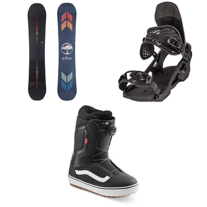 Arbor - Formula Camber Snowboard + Spruce Snowboard Bindings + Vans Aura OG Snowboard Boots 2022