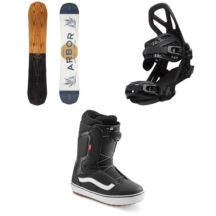 Arbor - Element Rocker Snowboard + Hemlock Snowboard Bindings + Vans Aura OG Snowboard Boots 2022
