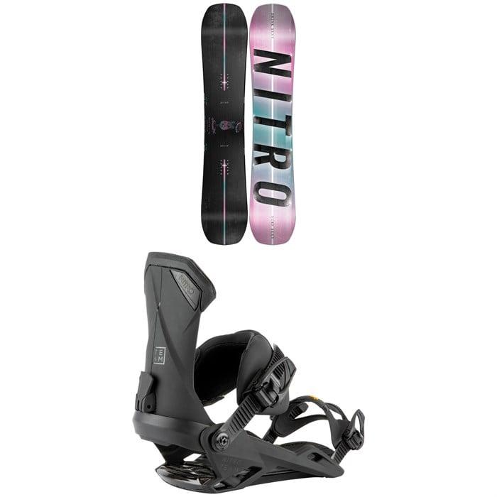 Nitro - Optisym Drink Sexy Snowboard 2022 + Nitro Team Snowboard Bindings 2022
